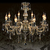 Lights Living Room 110v Crystal Cognac Color Chandelier Luxury K9