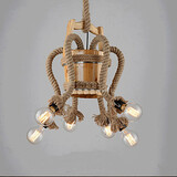 Bar Creative Lamp Chandelier Wooden