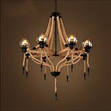 Droplight American Nostalgic 100 Retro Rope Chandelier Glass Hemp