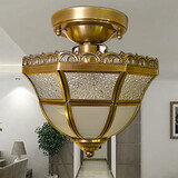 Metal Flush Mount Bulb Included Hallway Brass Dining Room Traditional/classic