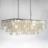 Shell Chandelier Rustic/Lodge Downlight