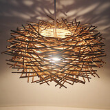 Cany Rattan Restaurant Rural Head Droplight Lamp Led