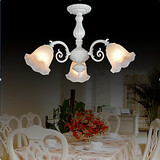 Three European Flush Mount White Classic Lights