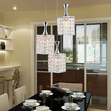 Restaurant E27 Droplight Metal K9 Send Lights Crystal