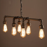 Lamp Vintage Edison Water Pendant Light Retro Loft Style Pipe Industrial