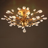 Ceiling Light Hotel Crystal Golden 100 Mounted