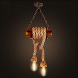 Ancient Lamp American Droplight Bamboo Ways Chinese Style