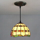 Tiffany Painting Feature For Mini Style Metal Lodge Rustic Entry Pendant Light Bedroom 25w