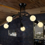 Ceiling Light Pipe Nordic Retro Home Restaurant Loft Iron Dinning Room