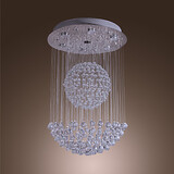 Max 50w Chrome Modern/contemporary Crystal Chandeliers Bulb Included Dining Room Flush Mount
