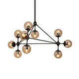 Black Chandelier Flush Mount 100 Amber Loft Light