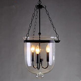 Country Circular Glass Pendant Lamp