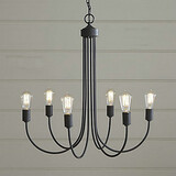 Max:60w Office Entry Chandelier Country Painting Study Room