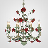 American Chandelier Lamp Flower European Flowers Garden Lamp Iron