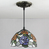 Vintage 25w Living Room Painting Feature For Mini Style Metal Tiffany Pendant Light Entry