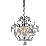 Crystal Pendant Light 60w Modern Max