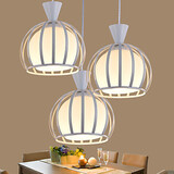 Glass Restaurant Led Contracted Contemporary Pendant Light Round