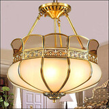 New Classic Copper Aisle Porch Ceiling Lamp