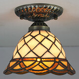 Lamp Stained Led European Rural Dome Creative Light