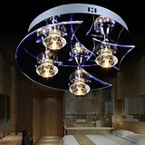 Led Chandelier Modern Lights Living Crystal