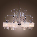 Chandelier Living Room Feature For Crystal Metal Chrome Modern/contemporary Bedroom Max 40w