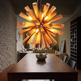 Bedroom Led Wood Dining Room Bulb Included Living Room Study Room Office