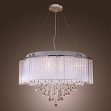 Dining Room Pendant Light Living Room Drum Max 20w Feature For Crystal Metal Electroplated Bedroom Modern/contemporary