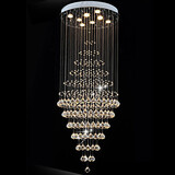 Led 100 Crystal Ceiling Lamp Fixture Pendant Lights