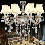 Transparent K9 Crystal Christmas Lights Candle Chandelier