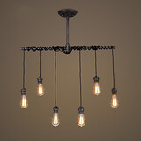 Nordic Iron Creative Chandelier Personality Industrial Pipes Art