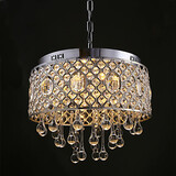 Lights Drum Chandelier Rain Drop Crystal