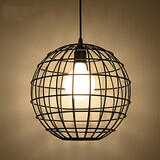 Light Game Room Wrought Iron Contracted Restaurant Fixture Cafe Pendant Lights Birdcage