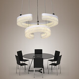 Crystal Modern Rings Pendant Light Shape Lamp Led