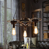 Industrial Wind Vintage Chandelier Bar Gear