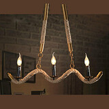 Feature For Candle Style Metal Electroplated Max 40w Country Retro Living Room Traditional/classic Chandelier