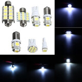 Mark Side LED Reading Light 12V White 7pcs Kit Lamp Dome Licence Plate Car Interior