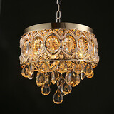 Romantic Chandeliers Gold Crystal