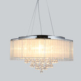 Pendant Light Drum Chrome Modern/contemporary Bedroom Dining Room Living Room Feature For Crystal Metal