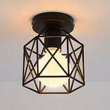 Fixture Flush Mount Ceiling Lamp Mini Loft Vintage Game Room