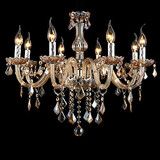 Candle Chandelier Crystal Luxury Amber
