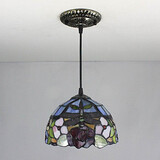 25w Pendant Light Bedroom Tiffany Vintage Painting Feature For Mini Style Metal Entry
