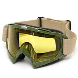 Anti-Fog Windproof Ski Snowboard Yellow Lens Goggles Motorcycle Glasses Sport