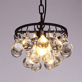 Pendant Light Indoor Country Vintage Side Amercian Crystal Single Head Creative