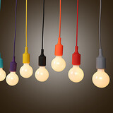 Creative E27 Silicone 1m 100 Chandelier Line Led