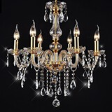 Chandeliers Vintage Lights Golden Crystal Feature