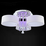 Modern/contemporary Remote Control 1156 Crystal Flush Mount Led Ecolight