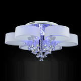 Flush Mount Remote Control Modern/contemporary Ecolight Crystal 1156 Led Included