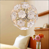 Chandelier Flower Glass Ball Study Shop Garden Warm