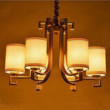 Air New Lamps Chandelier Chinese Style Imitation Iron Living Room Copper