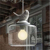 Bird Droplight Single Head Glass